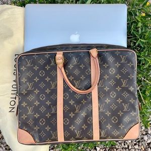 💝 BEAUTIFUL NEW COWHIDE 💖LV Laptop Briefcase Bag